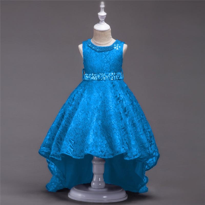 4-14T Summer Girl wedding Birthday party dresses,children clothing performance dance dresses,girls lace princess long tail dress