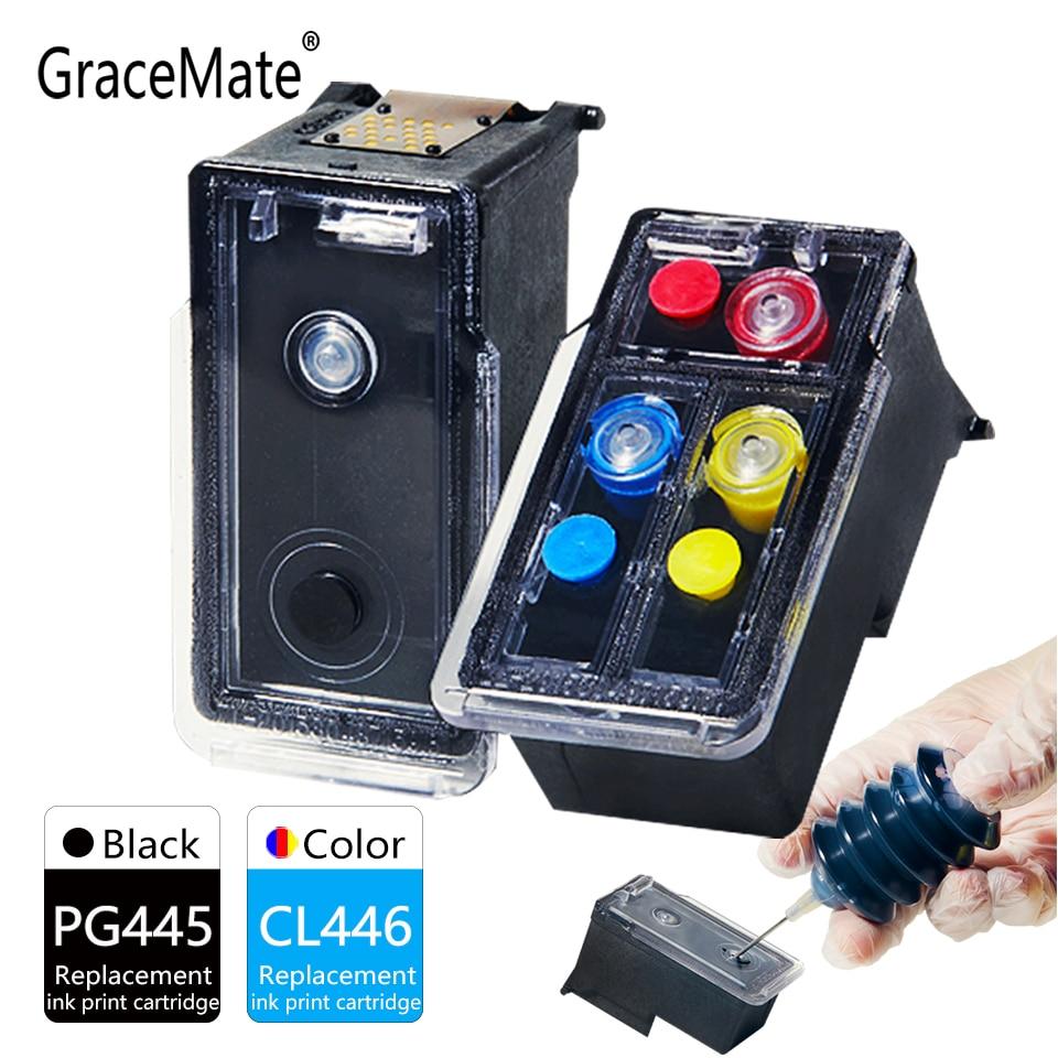 GraceMate PG445 CL446 خرطوشة الحبر متوافقة لكانون 445 446 Pixma MX494 MG2440 MG2540 MG2940 MG2942 MG2944 IP2840 طابعة