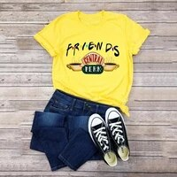 yellow casual t shirt for women friends tee shirts new fashion 2020 plus size 5xl tshirts short sleeve summer tees tops clothing