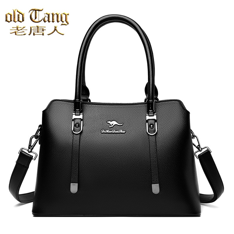OLD TANG High Quality Pu Leather Solid Color Handbag for Women 2020 Large Capacity Female Fashion Ca