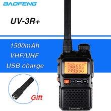 Baofeng UV-3R Plus talkie-walkie Mini UV 3R + Portable CB Radio Amador UHF VHF jambon CB Radio VOX lampe de poche FM émetteur-récepteur UV3R