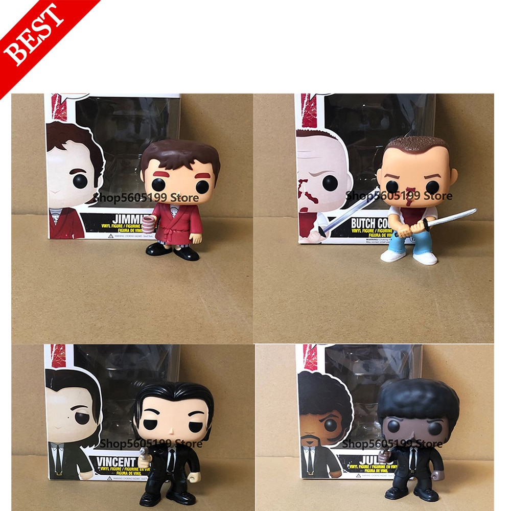 NEW Movies Pulp Fiction Jules Vincent Vega JIMMIE with box Figure POP Toys Collection model toy for children