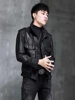 mens leather jacket 2020 real genuine leather jackets sheepskin coat vintage motorcycle jacket deri mont yh9056 kj4122