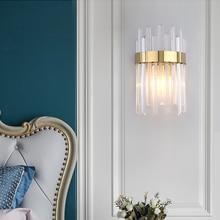 Jmzm moderne cristal or applique salon salle à manger cristal applique murale simple fond mur décoration lampe