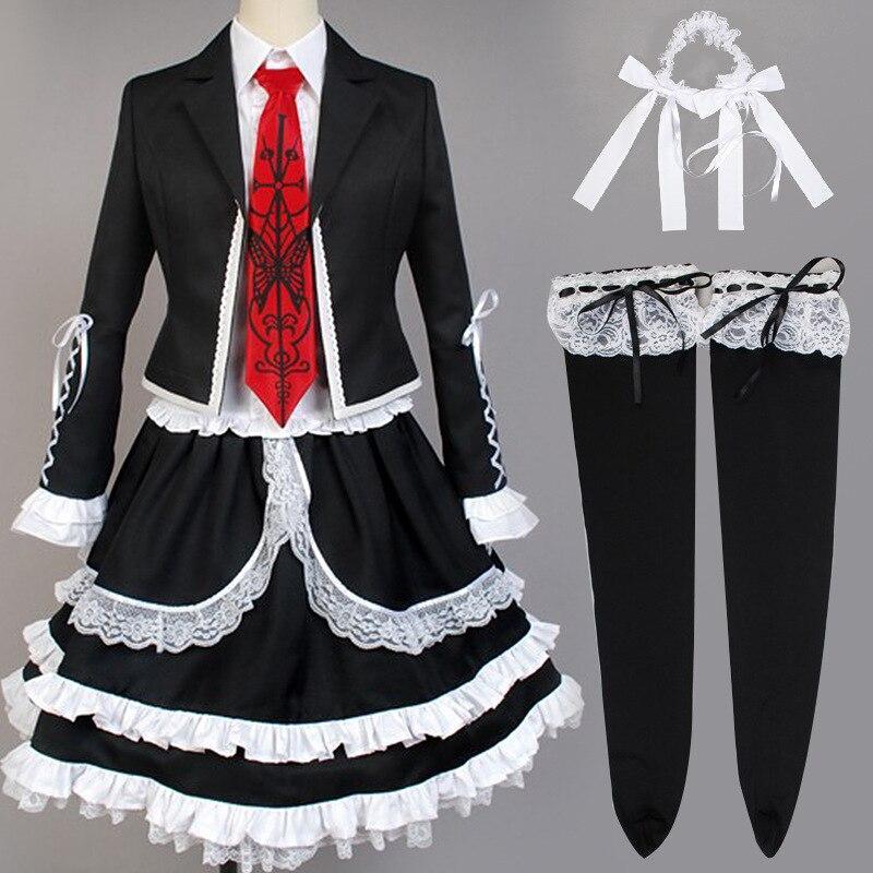 Uniforme para Meninas Vestido de Festa Yasuhiro Taeko Cosplay Trajes Danganronpa Anime Celestia Ludenberg Role Play Lolita