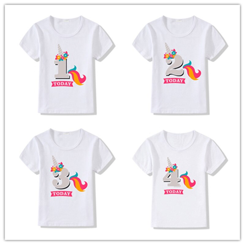 Детская футболка на день рождения для маленьких мальчиков и девочек, летняя детская забавная футболка в подарок, майки футболки для детей 1, 2, 3, 4, 5, 6, 7 лет, детская одежда