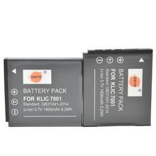 DSTE 2 PIÈCES KLIC-7001 Batterie pour Appareil Photo KODAK V550 V570 V610 V705 M753 M763 M853 M863 M893 M1063 Caméra