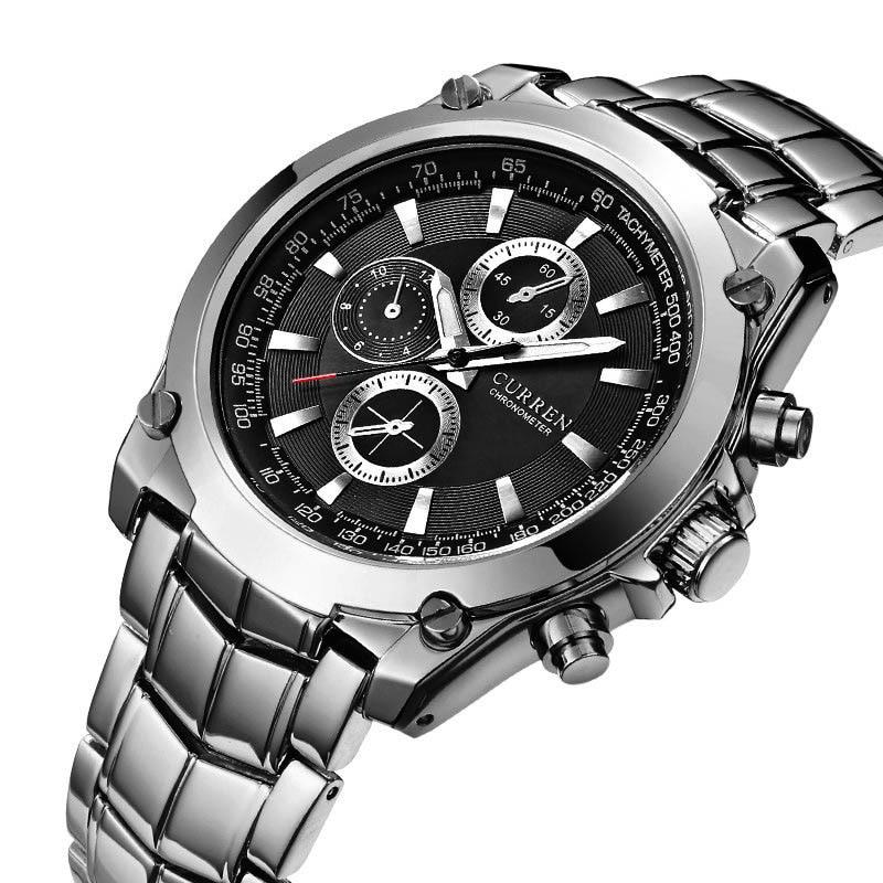 Мужские кварцевые часы часы мужские Мужские наручные часы Orologio Uomo, модные деловые кварцевые мужские наручные часы, Роскошные водонепроница...