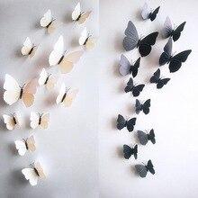 Autocollants muraux en PVC 3D bricolage   Étiquette adhésive à poser au mur, décoration pour cuisine salle de bains, 12 pièces/lot