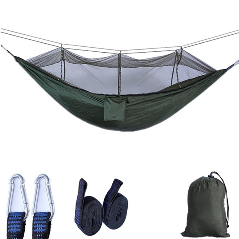 Outdoor Mosquito Net Hammock Parachute Cloth Double Camping Air Tent Green