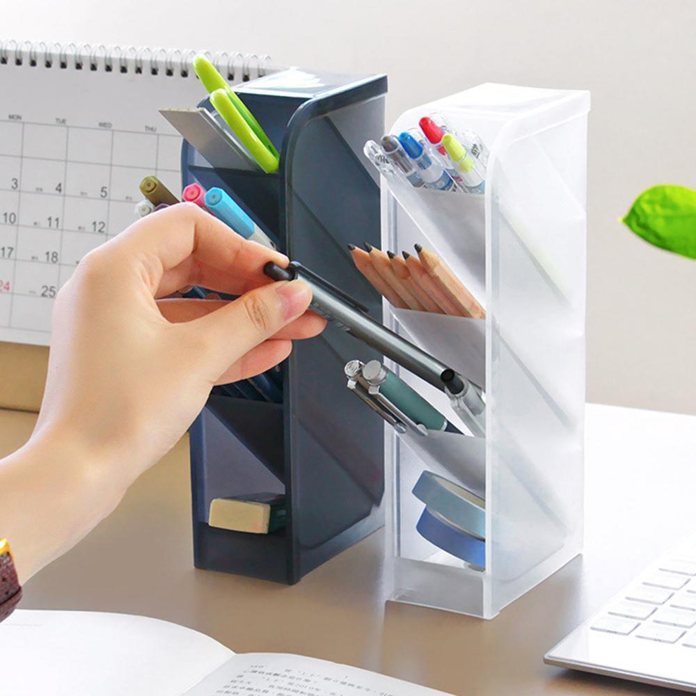Armazenamento de escritório em casa multifuncional desktop detritos armazenamento organizador de mesa caixa organizador para caneta, maquiagem escova organizery tdh