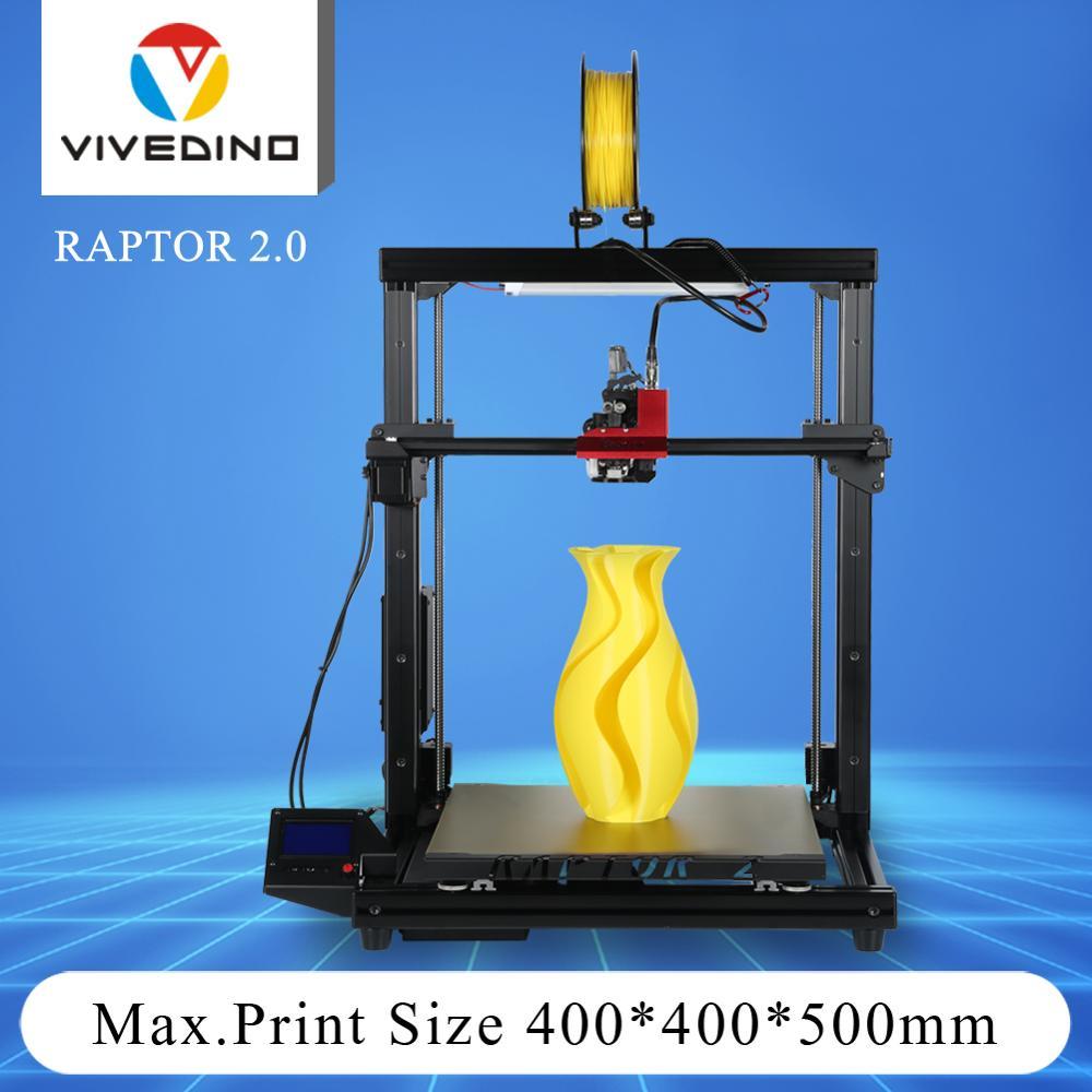 طابعة ثلاثية الأبعاد أفيفيدينو رابتور 2 ، دقة عالية ، حجم طباعة كبير ، 400x400x500mm ، 2020