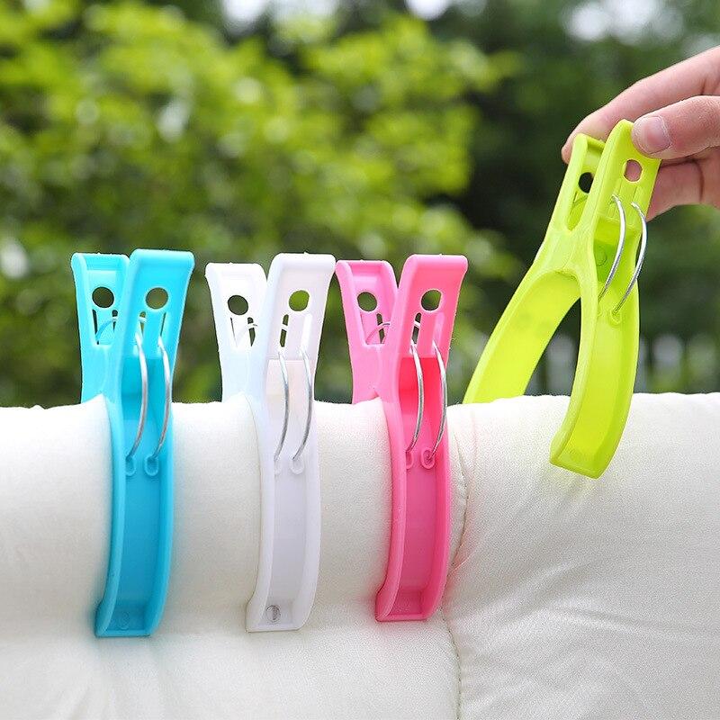 Pinzas de ropa de Color clip de toalla de playa pinzas de ropa para lavandería estantes de secado grandes manta alfombra clip para fijar clip de organización