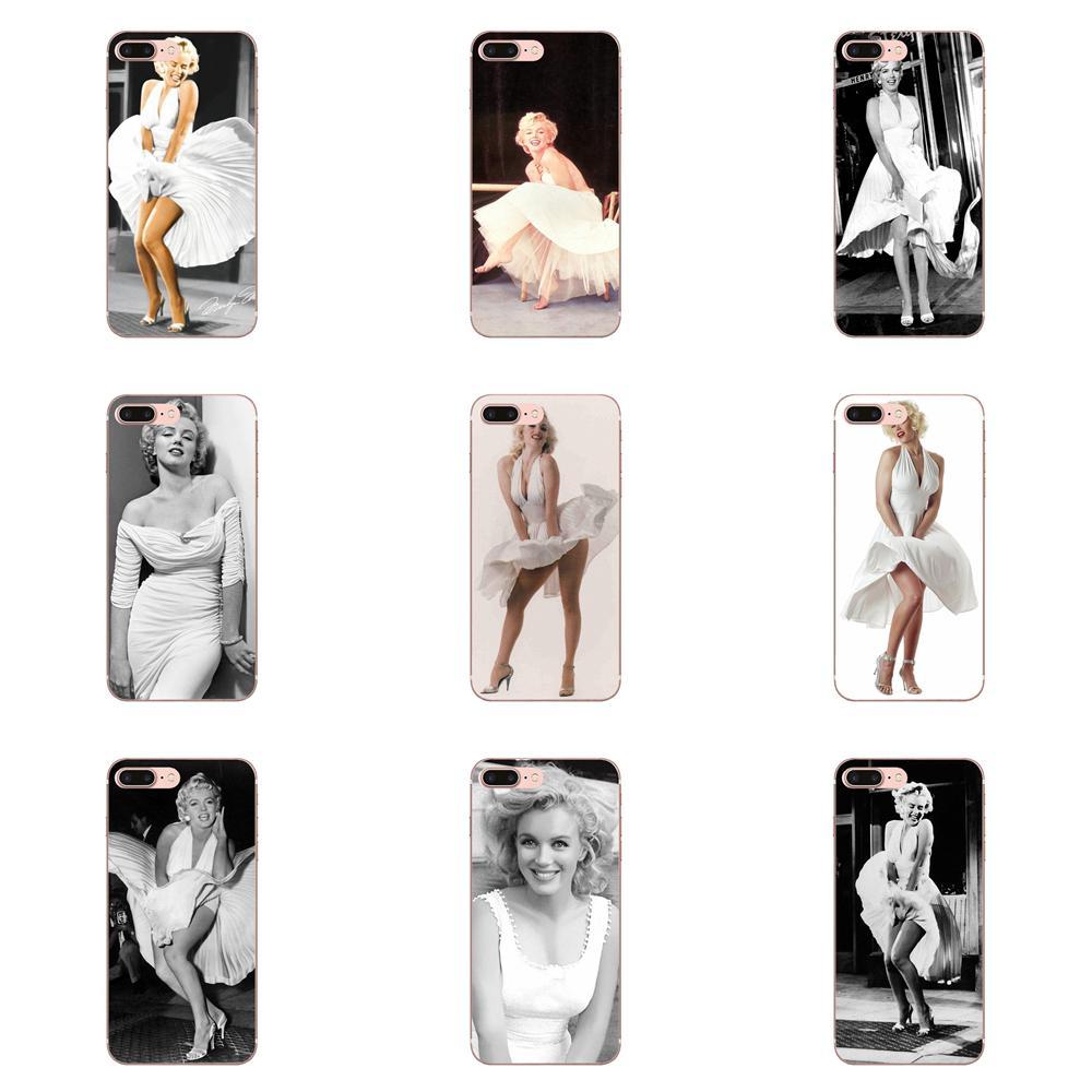 Fundas transparentes de TPU Marilyn Monroe en su vestido blanco para Huawei Mate 9 10 20 P P8 P9 P10 P20 P30 P40 Lite Pro Smart 2017