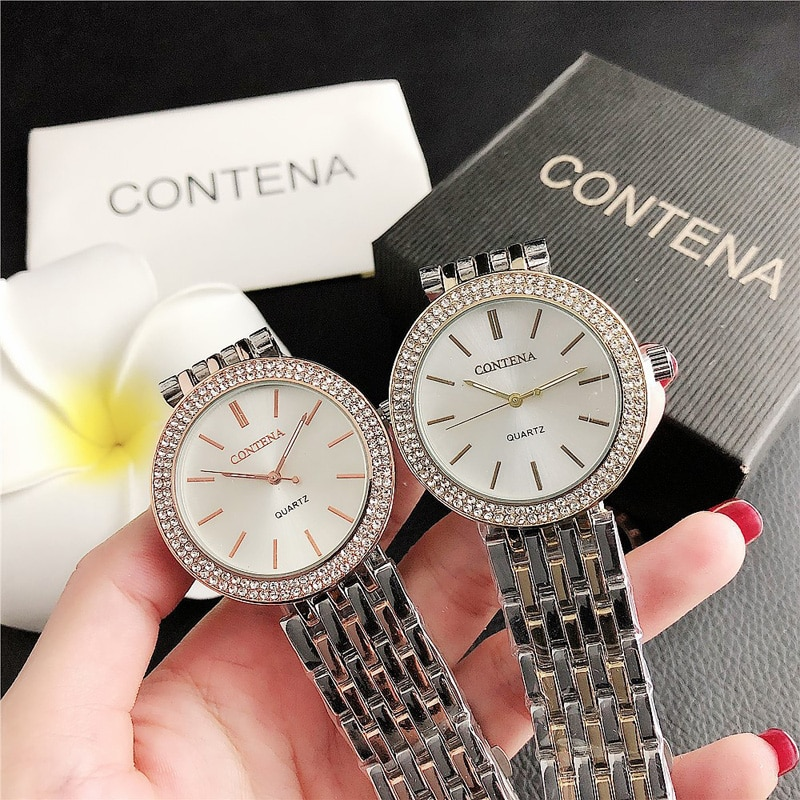 YUNAO 2021 New Fashion Ladies Business Watch Diamond Trend European And American Compact Disc Watch High-End Quartz Watch Female enlarge