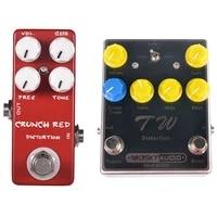 mosky 2 pcs distortion guitar effect pedal high quality effect pedal black red