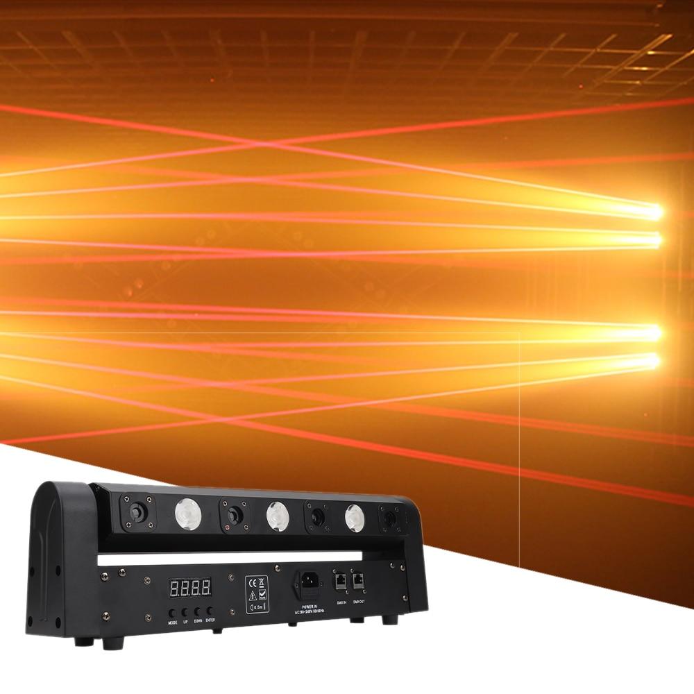 Newest 3X3W LED+4 Eyes Laser Effect Light DMX512 Disco DJ LED Music Party Beam Light Wedding Bar Club Xmas Red Laser Lights