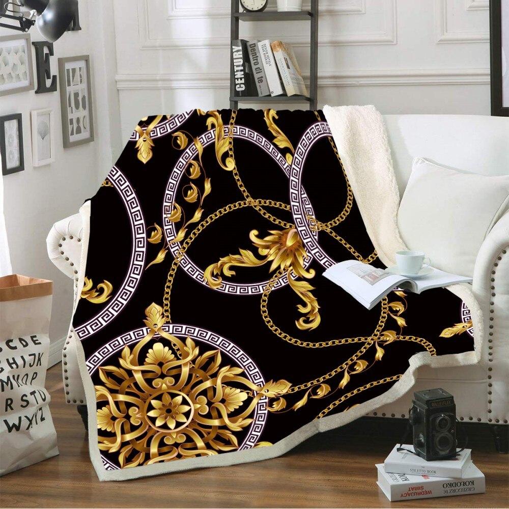 Manta de tiro con forma hueca, manta de lana suave de estilo Vintage con estampado para camas, sofá, colchas de felpa, funda de sábana de invierno para decoración del hogar