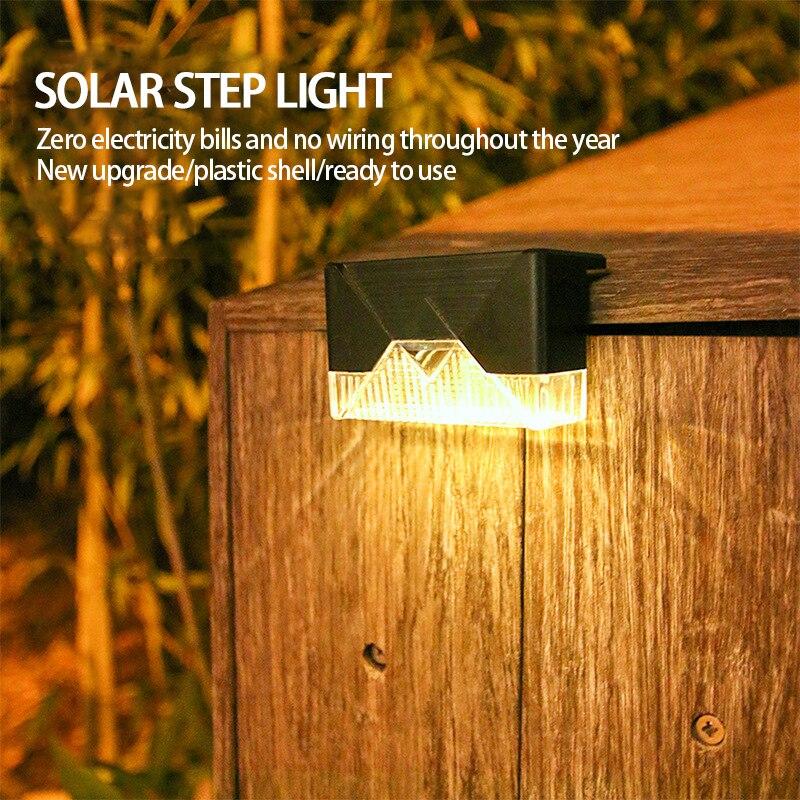 Оптовая продажа светодиодный солнечный светильник путь лестницы на открытом воздухе Водонепроницаемый настенный светильник сада Ландшаф...