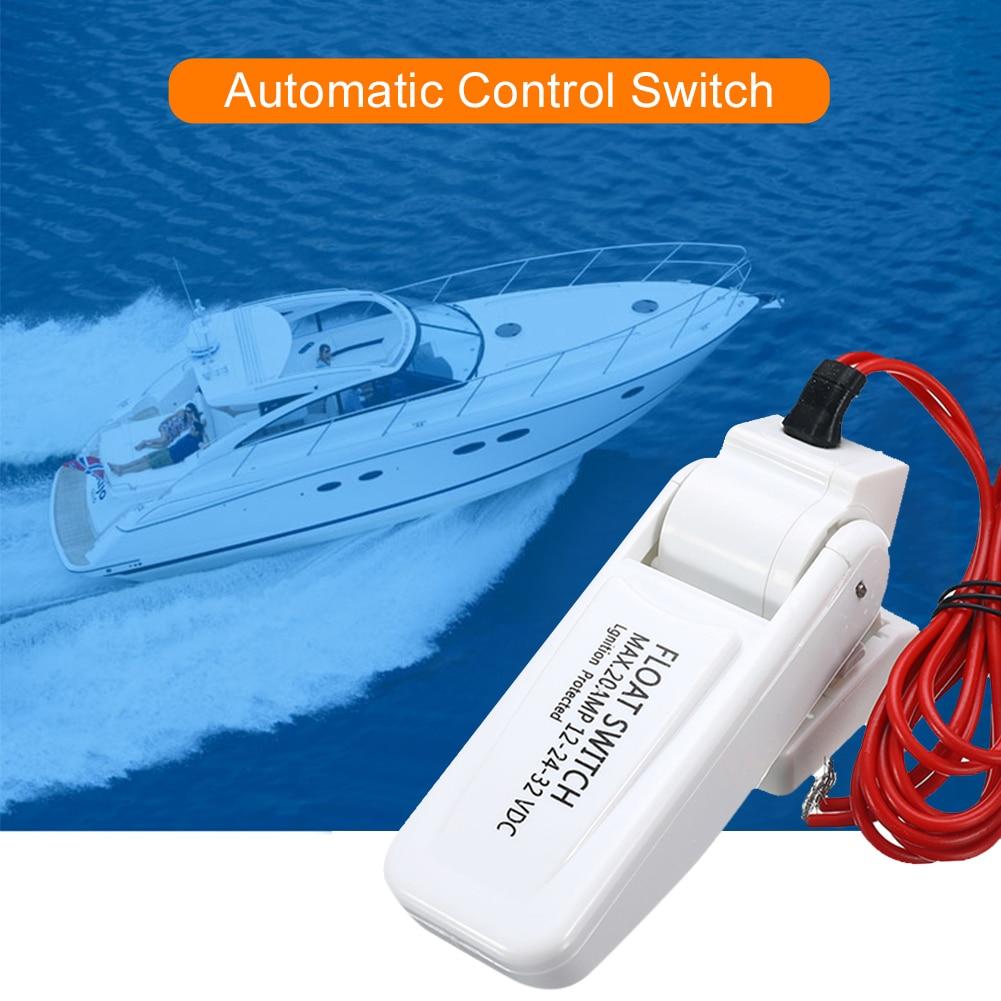 12v automatic electric boat marine bilge pump float switch water level controller dc flow sensor switch boat accessories marine 2021 NEW 12V Automatic Electric Boat Marine Bilge Pump Float Switch Water Level Controller DC Flow Sensor Switch