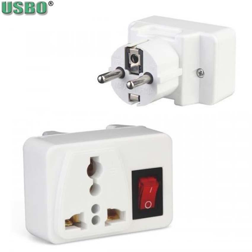 Universal 250v 10A 1way 2way US UK EU adaptador Portable outlet Strip Alemania Francia adaptador de pared Schuko enchufe con interruptor