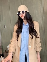 leather clothes 2021 new womens sheepskin leather clothes medium and long slim fashion coat