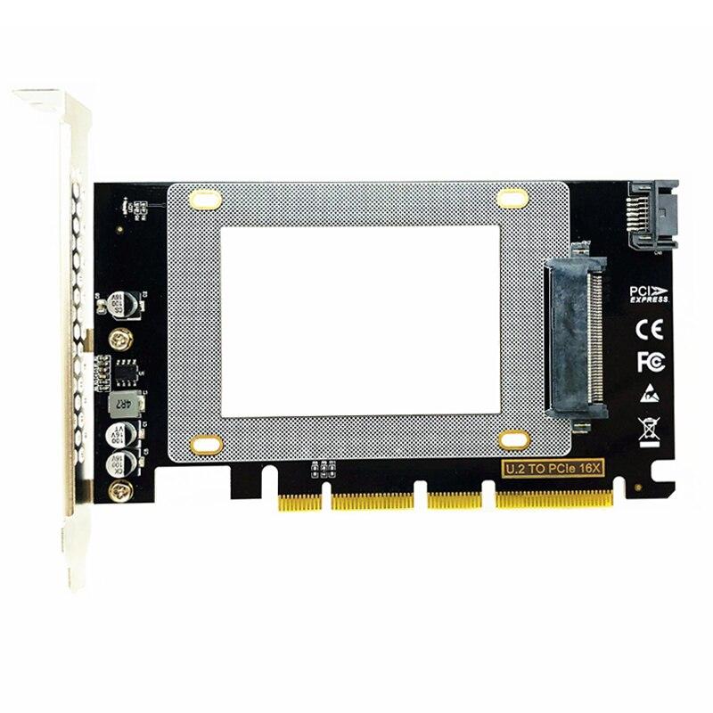 جديد PCI-E Riser PCIE3.0 X4/X8/X16 إلى الولايات المتحدة 2 SFF-8639 محول PCIe إلى U2 بطاقة M.2 NGFF 2.5