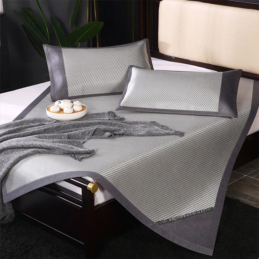 الصيف وسادة النوم للطي فراش الجلد ودية حماية وسادة عدم الانزلاق قابل للغسل وسادة النوم تكييف الهواء وسادة حصيرة الروطان
