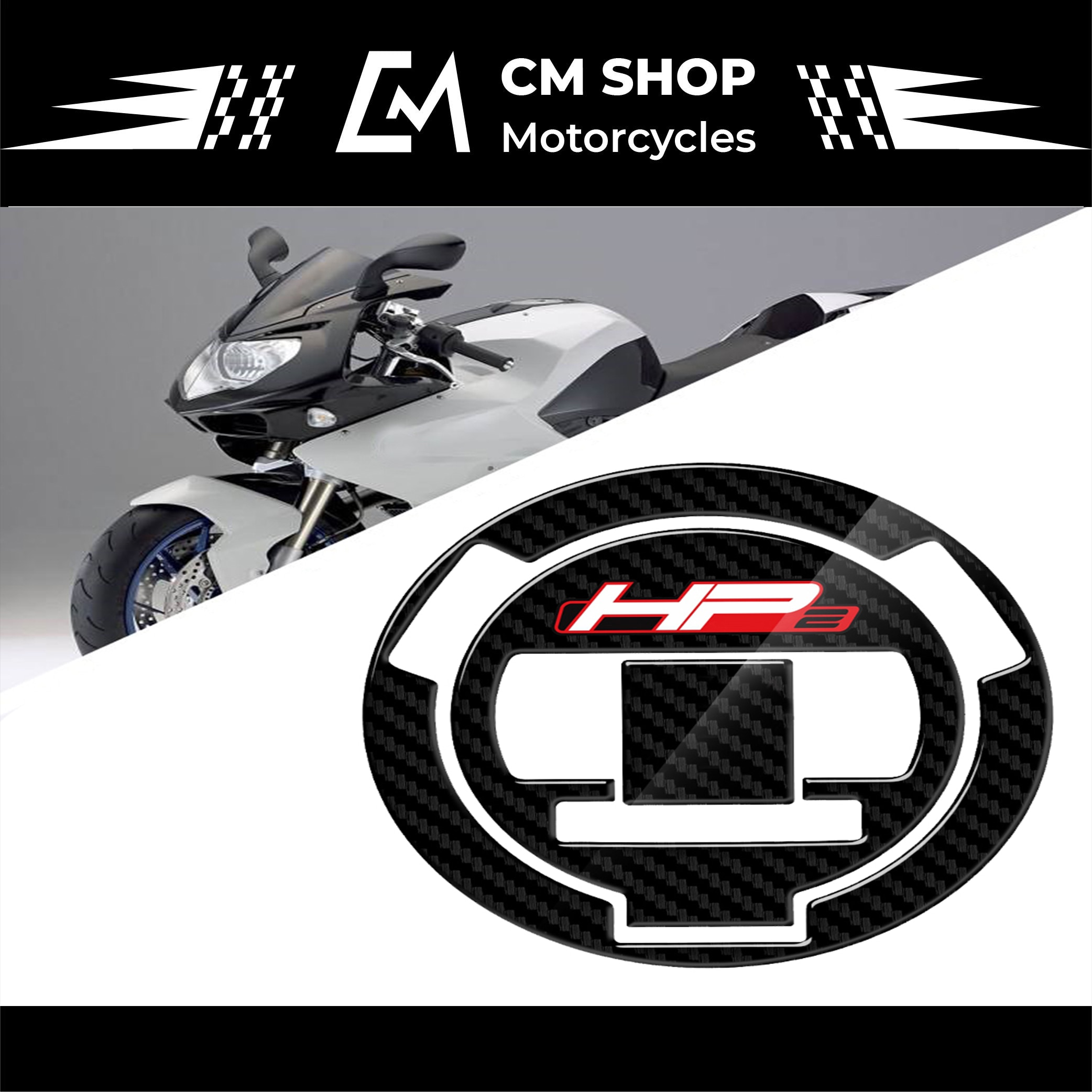 new 3d gel fuel tank side protection sticker fuel tank deca0ls racing kit sticker for bmw f850gs f850 gs 2020 3D Carbon Fiber Look Sticker For BMW HP2 Fuel Tank Cap Cover Pad Motorcycle Fuel Tank Cap
