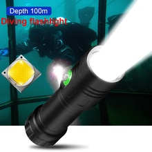 100m Professional Most Powerful Diving Led Flashlight Underwater Lamp Scuba Diving Light Rechargeable 18650 26650 Diving Torch
