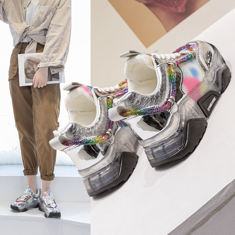 Папа обувь женская 2021 Весенняя Новинка интернет-знаменитость Супер горячая обувь толстая подошва Muffin Спортивные Повседневные универсальн...