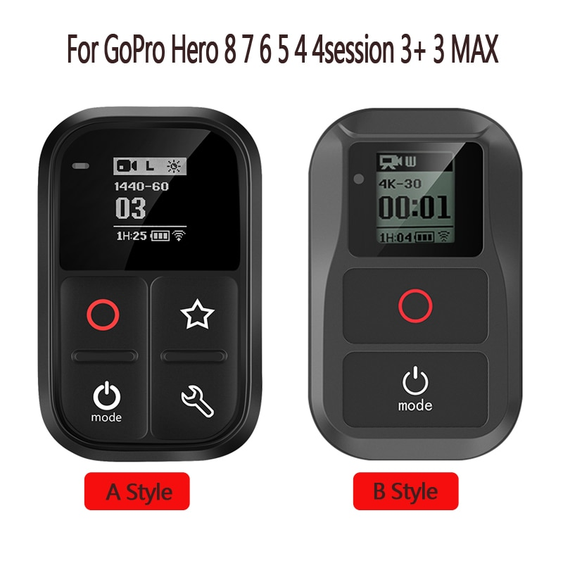 New Smart Waterproof Wifi GoPro Remote Control For GoPro Hero 8 Hero 7 6 5 Black 4 Session Hero 3+3 Go Pro Hero Max Accessories