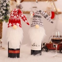 christmas wine bottle cover wine bottle wrap red wine bottle cover 2021 fashion novelty bags new year xmas gift for table decor