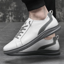 Men Casual Genuine Leather Shoes Soft Bottom Wear-Resistant Business Shoes outdoor Breathable Handma