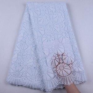 Белая африканская кружевная ткань 2020, высококачественное вечернее кружевное платье, водорастворимое нигерийское кружево, африканская кру...