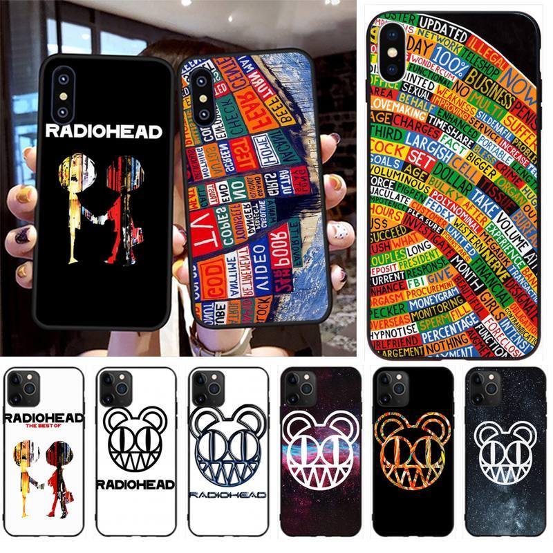 NBDRUICAI Radiohead TPU negro cubierta de la caja del teléfono del casco para iPhone 11 pro XS MAX 8 7 6 6S Plus X 5S SE XR caso