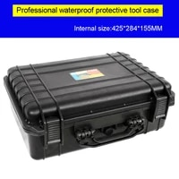 tool case toolbox travel case impact resistant sealed waterproof camera case protect equipment with pre cut foam lining