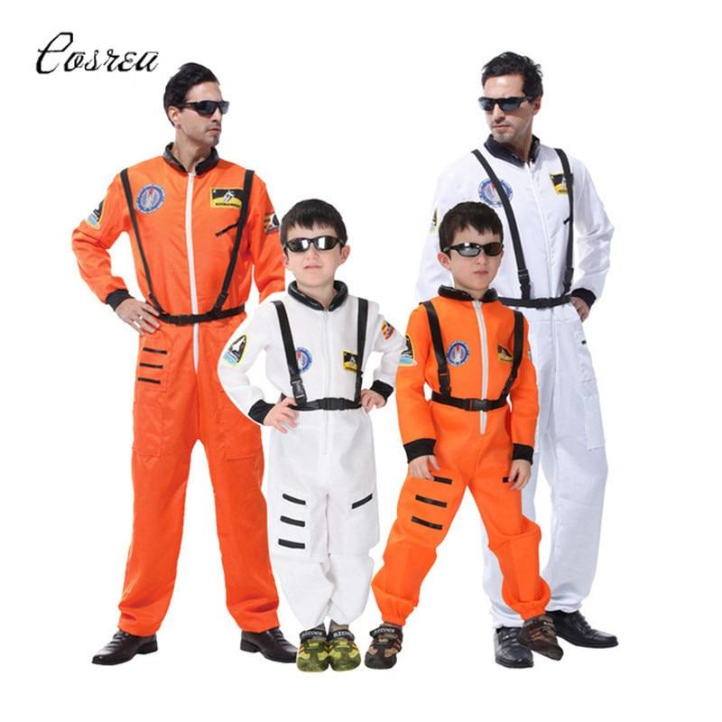 Traje espacial para hombres adultos talla grande traje de astronauta trajes piloto 2019 nueva llegada disfraz de Halloween una pieza mono