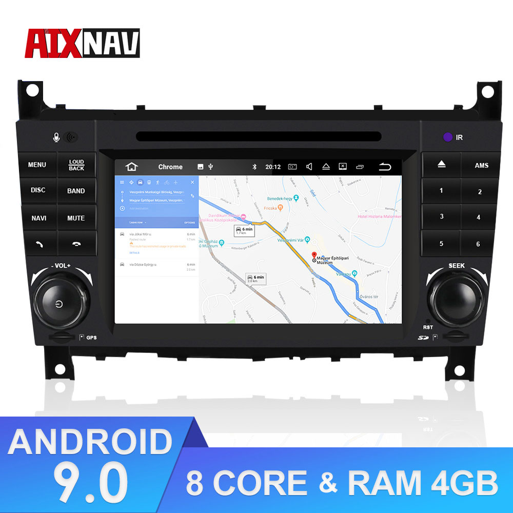 Autoradio multimedia Central DVD para el coche reproductor GPS Navegador de coche Parktronic pantalla para Mercedes Benz CLK320 DSP de Radio 2 Din
