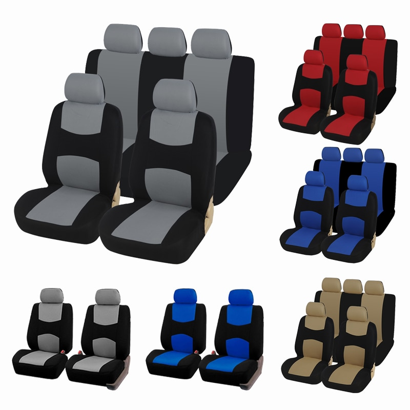 AUTOYOUTH Unique Flat Cloth Car Seat Cover ( Detachable Headrests and Solid Bench) Interior Accessor