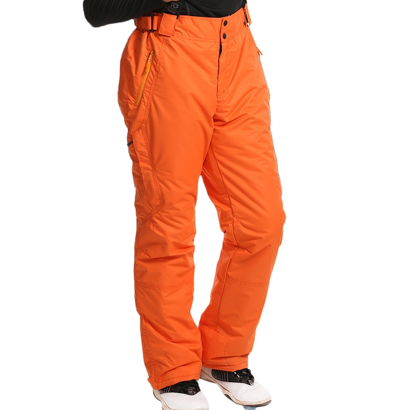 Pantalones de esquí para hombre impermeables espesar tirantes a prueba de vientos térmicos pantalones de snowboard pantalones de invierno para hombre