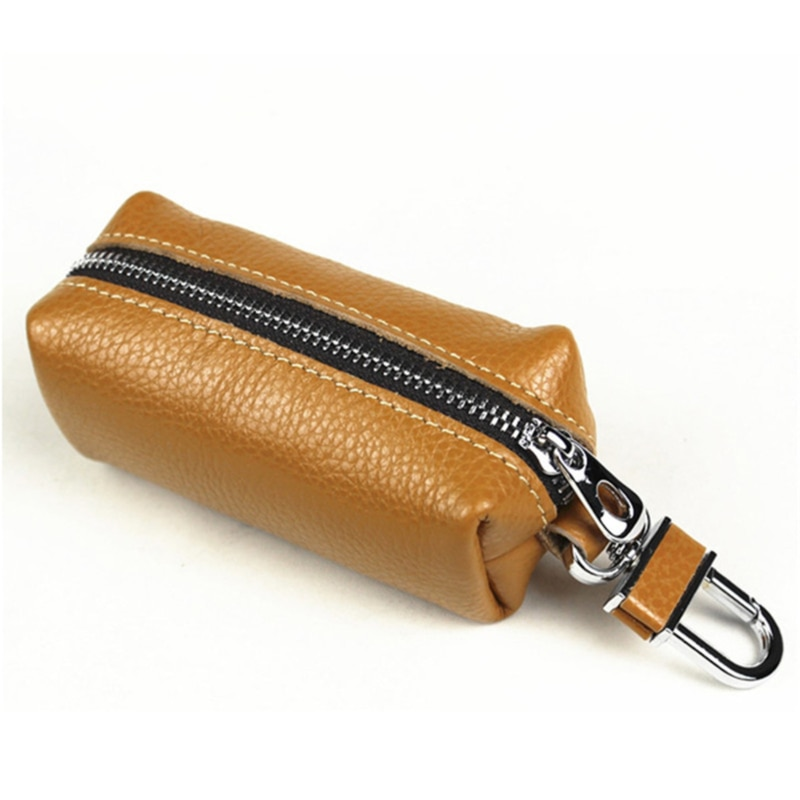 Leather Male Key Holder Organizer Housekeeper Women Keychain Purse Key Ring Bag Keys Case Pouch Car