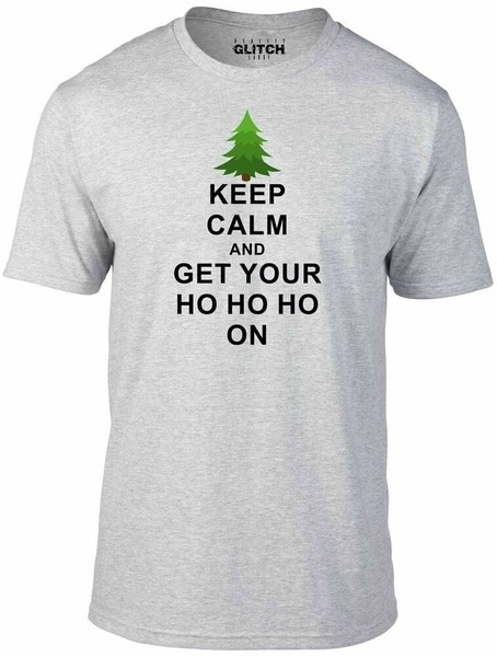 Keep Calm and Ho Ho Ho Men's T-Shirt Xmas Christmas Santa Father Christmas майка борцовка print bar keep calm and get your ho ho ho on
