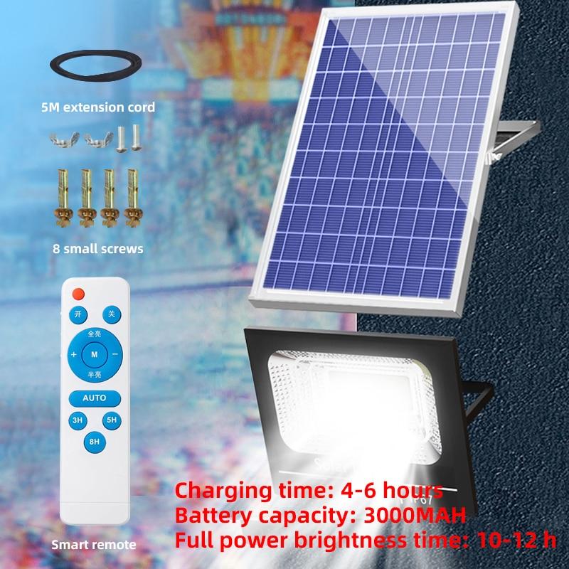 Dimmable IPX65 Waterproof Led Solar Light Motion Sensor Garden Wall outdoor Indoor Solar street Lamp Smart Remote Control Lamp