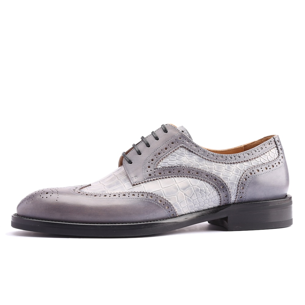 Zapatos de lujo de piel de becerro para hombrede alta calidadcosidos a...