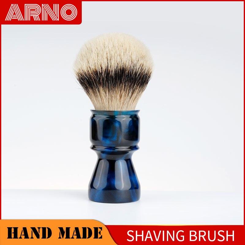 ARNOBRUSH - Shaving brush handle with badger knot - Coruscant(blue)