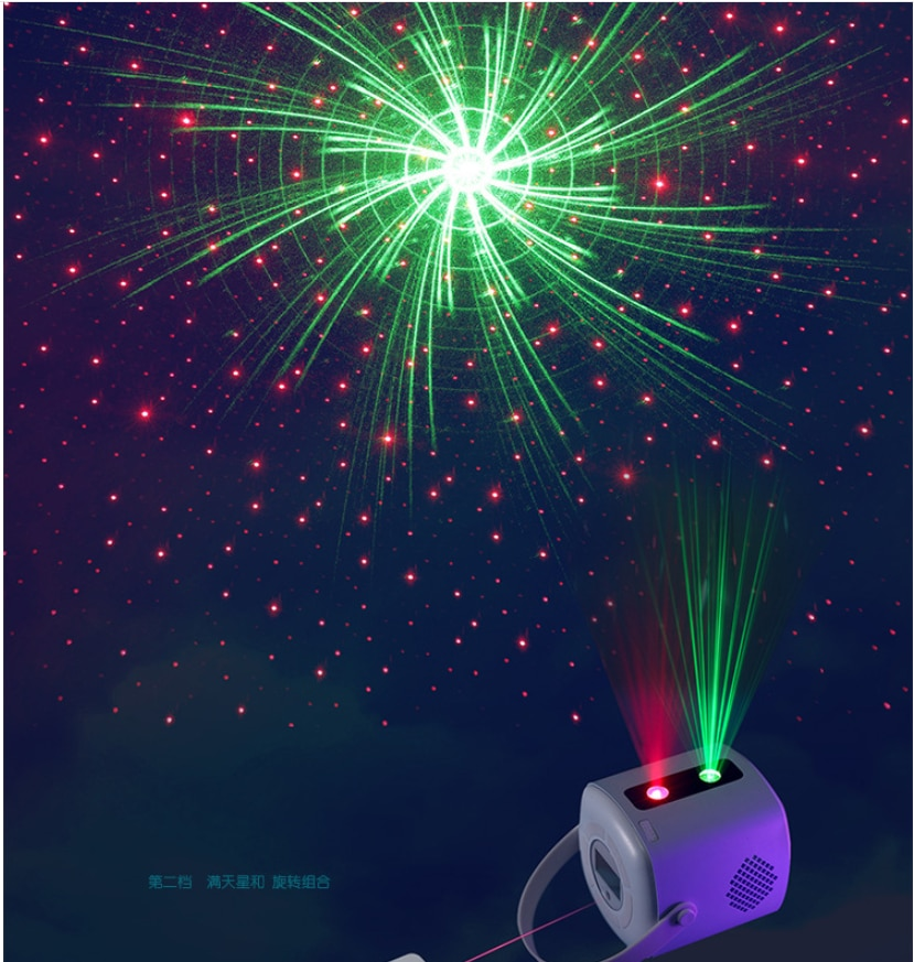 Starry Night Light Projector,Sky Galaxy Projector Laser Projector Light  with Remote Control & Bluetooth Speaker Alarm Clock enlarge
