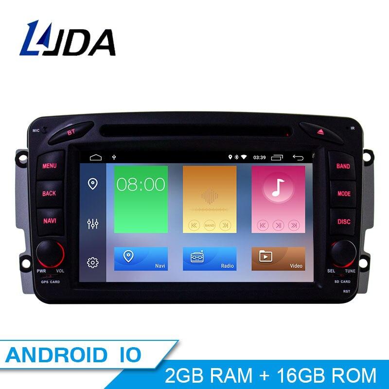 LJDA 2 Din Android 10,0 Auto Radio Für Mercedes Benz CLK W209 W203 W208 W463 Vaneo Auto Multimedia Stereo Auto audio GPS DVD IPS