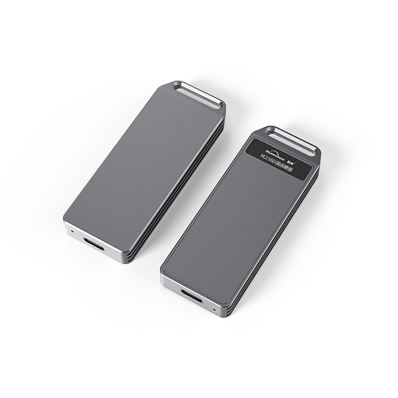 Blueendless Portable SSD m.2 Enclosure Support  pcie NVME/NGFF with M Key/B&M Key SSD Type C 3.1 high speed Solid Disk Case