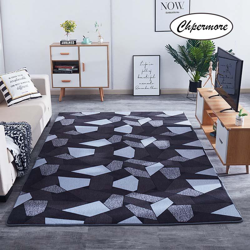 Chpermore tapete de veludo coral, tapete de tatuagem coral de veludo com estampa vintage para quarto, sala de estar, tapete para chão